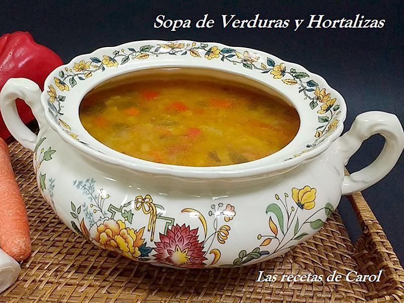 sopa de verduras y hortalizas