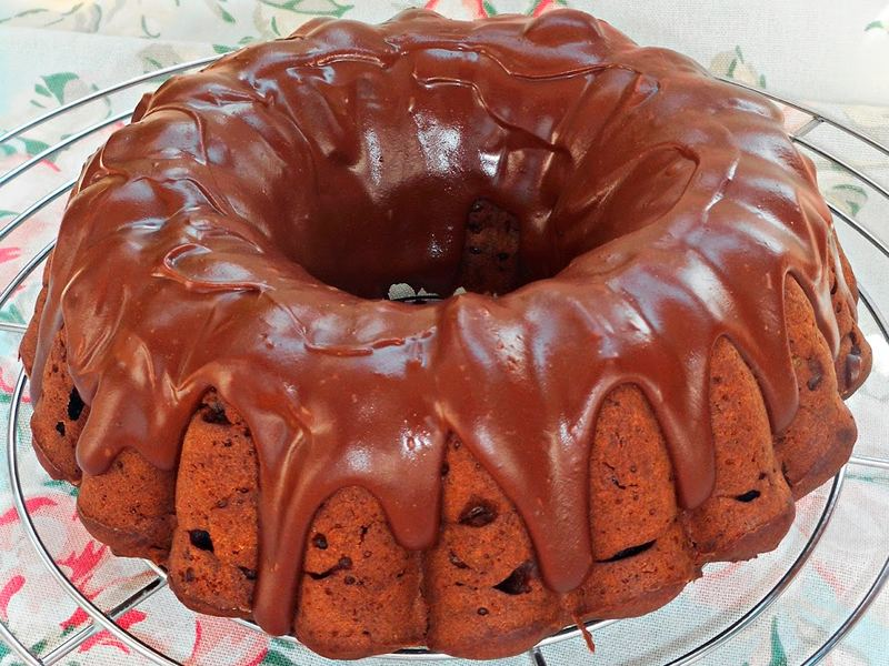 Bundt cake de patata y chocolate