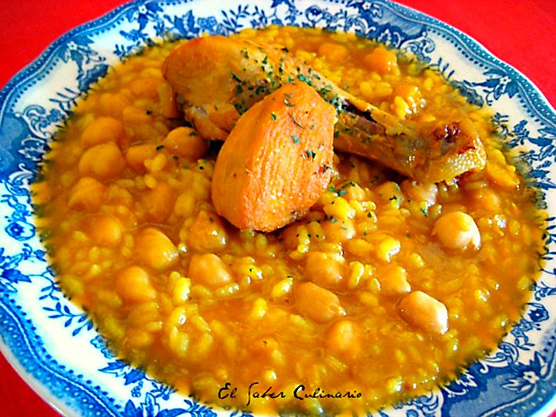 Potaje de garbanzos con arroz y pollo - Potaje garbanzos con arroz ...