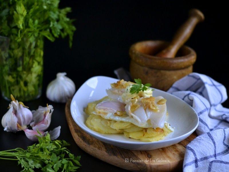 sepia y patatas